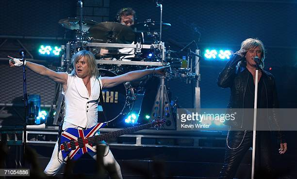 Bassist Rick Savage, drummer Rick Allen and singer Joe Elliot performs during the VH1 Rock Honors at the Mandalay Bay Events Center on May 25, 2006...