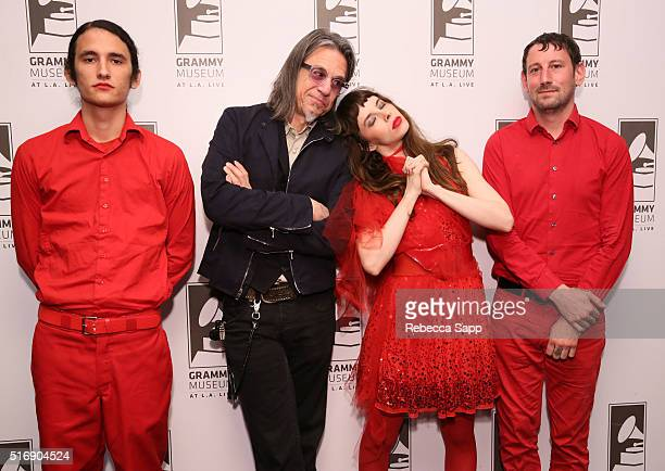 Bassist Riko RodriguezLopez Vice President of the GRAMMY Foundation Scott Goldman singer/musician Teri Gender Bender and producer/drummer Chris...