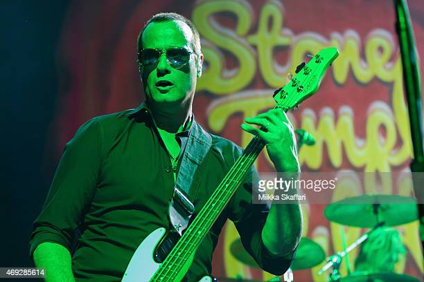 Bassist Robert DeLeo of Stone Temple Pilots performs at The Fillmore on April 10 2015 in San Francisco California