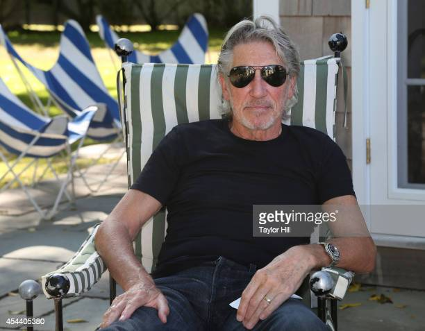 Bassist Roger Waters poses for a portrait before the 2014 Perfect Earth Project Family Picnic And Concert at Cindy Sherman's farmhouse on August 30...