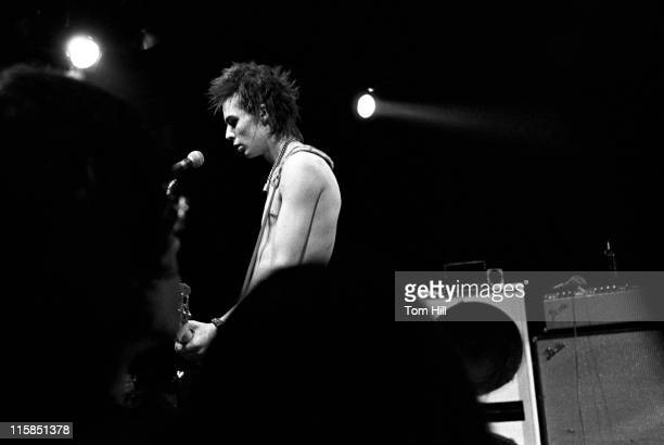 Sid Vicious of the Sex Pistols during Sex Pistols Play Their First North American Concert at Great SouthEast Music Hall in Atlanta January 5 1978 at...
