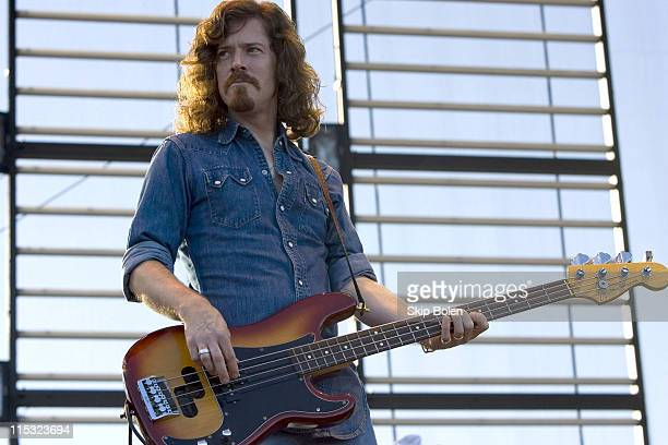 Bassist Ted Russell Kamp of Shooter Jennings during Voodoo Music Experience in New Orleans - Day One - October 28, 2006 at New Orleans City Park in...