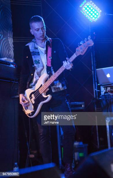 Bassist Theo Ellis of Wolf Alice performs at Visulite Theatre on April 17 2018 in Charlotte North Carolina