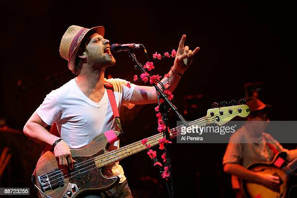 Bassist Toby Leaman of Dr Dog performs during the 31st annual Celebrate Brooklyn Summer Season at Prospect Park Bandshell on June 27 2009 in New York...