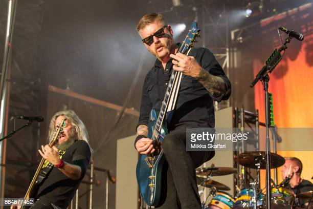 Bassist Troy Sanders and guitarist Bill Kelliher of Mastodon perform at Monster Energy Aftershock Festival 2017 at Discovery Park on October 21 2017...