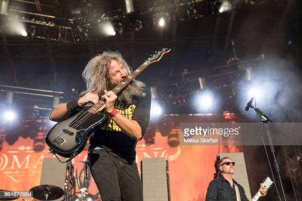Bassist Troy Sanders of Mastodon performs at Monster Energy Aftershock Festival 2017 at Discovery Park on October 21 2017 in Sacramento California