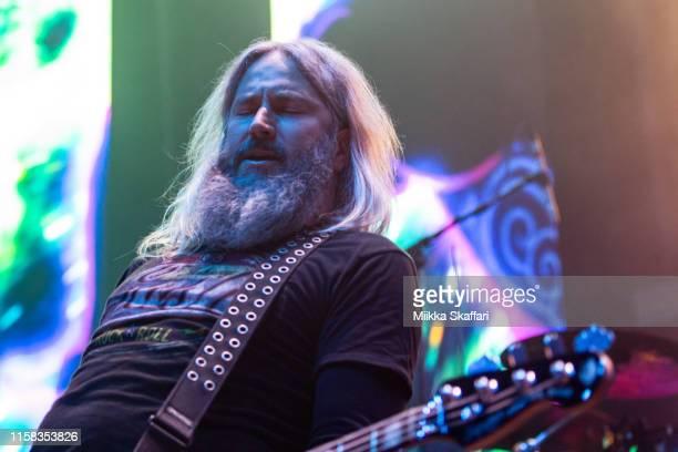 Bassist Troy Sanders of Mastodon performs at The Masonic Auditorium on June 25 2019 in San Francisco California
