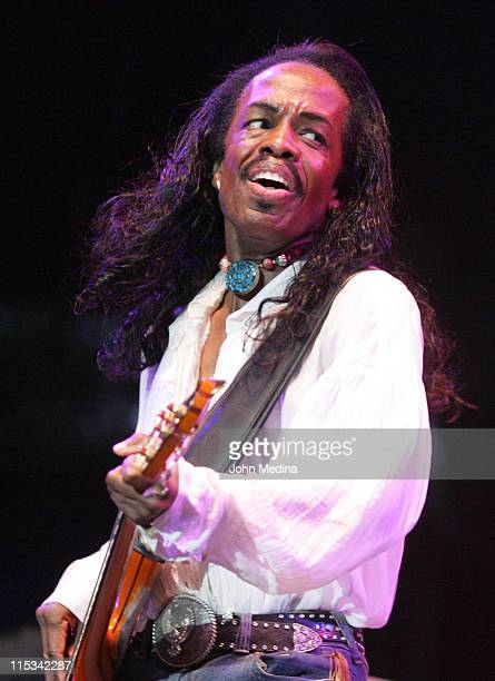 Bassist Verdine White of Earth Wind Fire during Chicago and Earth Wind Fire in Concert at Shoreline Amphitheater September 3 2005 at Shoreline...