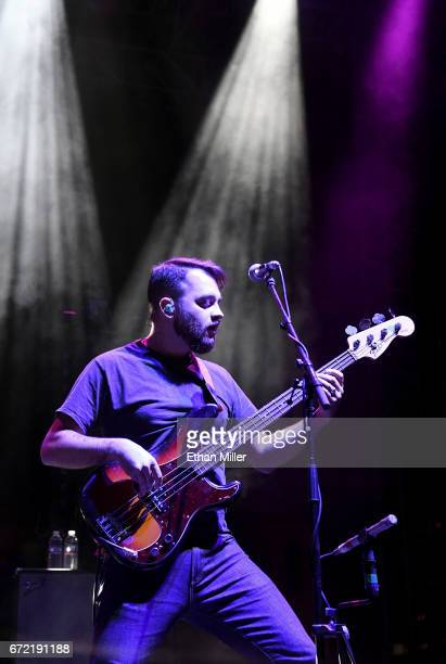 Bassist Zach Cooper of Coheed and Cambria performs during the Las Rageous music festival at the Downtown Las Vegas Events Center on April 21 2017 in...