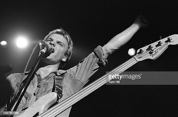 Bassist/singer Sting of the Police performs at The Agora Ballroom on April 27, 1979 in Atlanta, Georgia.