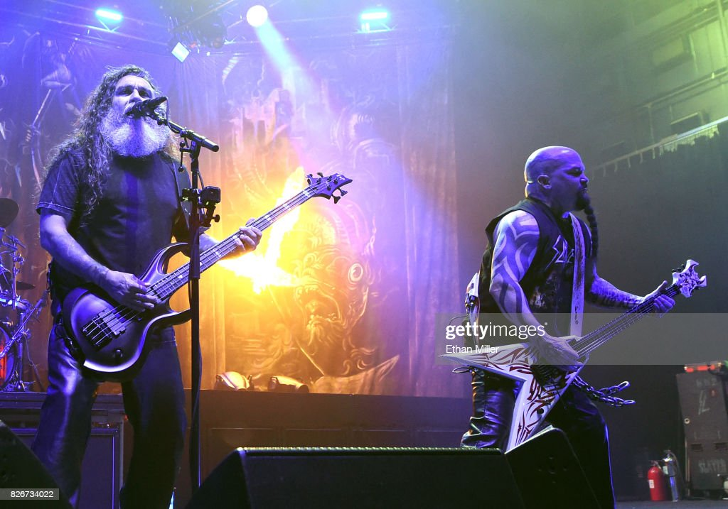 Slayer, Lamb Of God And Behemoth In Concert At The Hard Rock Joint In Las Vegas : News Photo