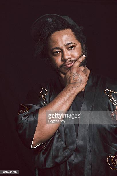 Bassist/singer/producer Stephen 'Thundercat' Bruner poses for a portrait backstage at the Afropunk Festival at Commodore Barry Park on August 23 2015...