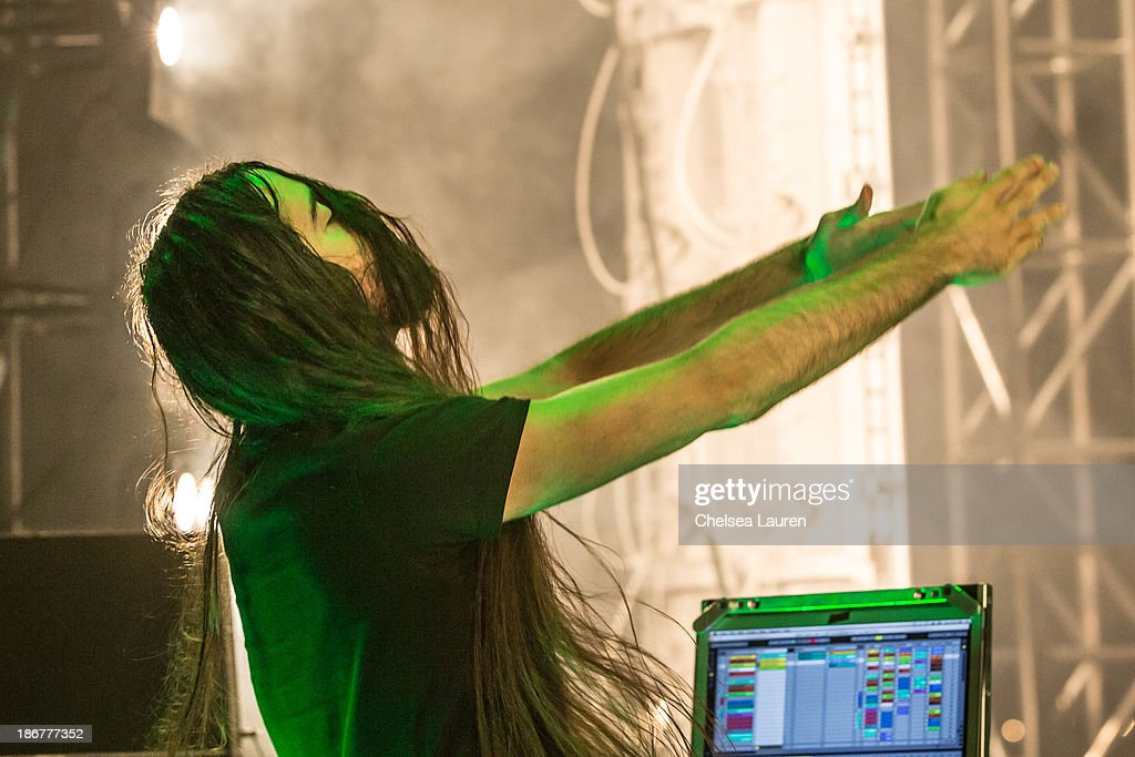 DJ Bassnectar performs at the 2013 Voodoo Music + Arts Experience at City Park on November 3, 2013 in New Orleans, Louisiana.