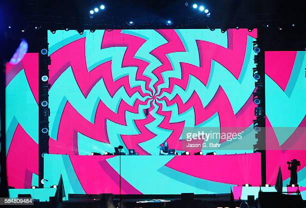 Bassnectar performs during day two of Bass Center 2016 at Dick's Sporting Goods Park on July 29 2016 in Commerce City Colorado