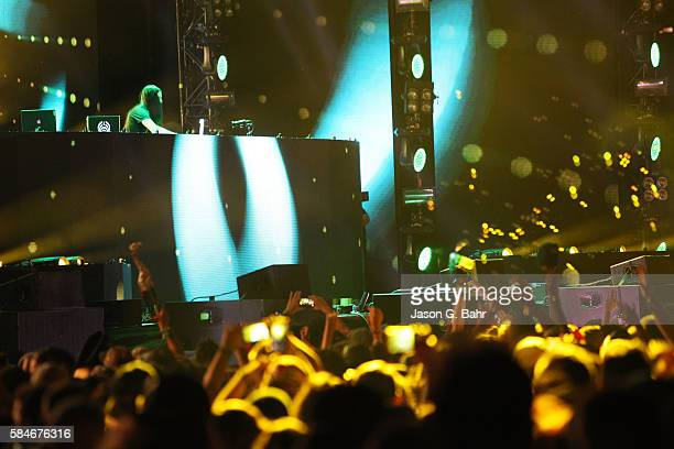 Bassnectar performs during opening night of Bass Center 2016 at Dick's Sporting Goods Park on July 29 2016 in Commerce City Colorado
