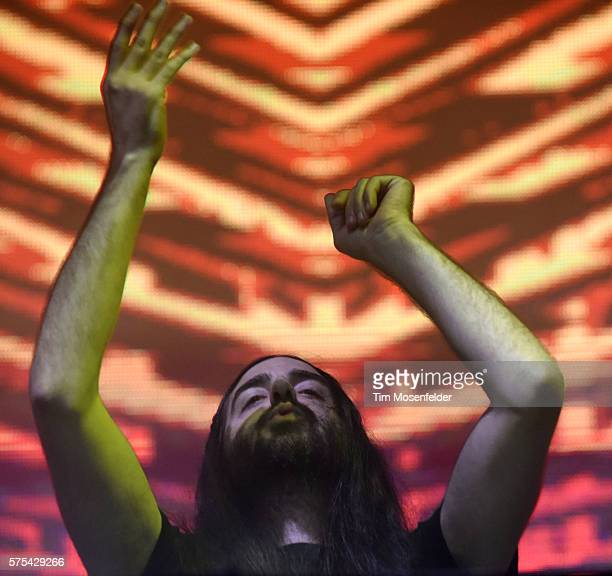 Bassnectar performs during the Pemberton Music Festival on July 14 2016 in Pemberton Canada