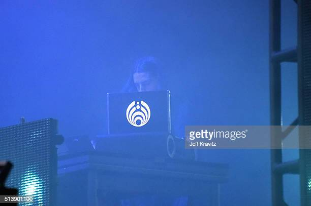 Bassnectar performs on stage at the Okeechobee Music Arts Festival Day 2 on March 4 2016 in Okeechobee Florida