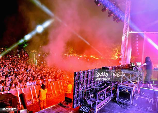 Bassnectar performs on Which Stage during day 2 of the 2018 Bonnaroo Arts And Music Festival on June 8 2018 in Manchester Tennessee
