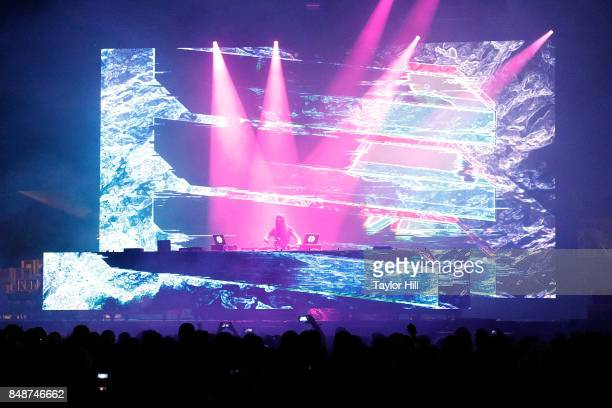 Bassnectar performs onstage during Day 3 at The Meadows Music Arts Festival at Citi Field on September 17 2017 in New York City