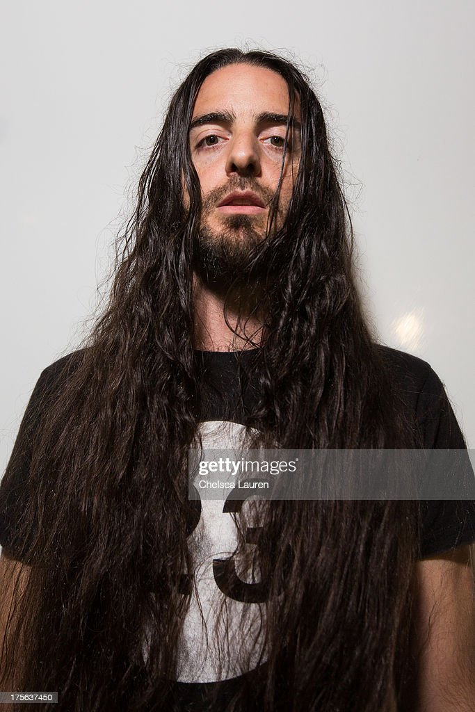 DJ Bassnectar poses backstage during day 2 of the HARD Summer festival at Los Angeles State Historic Park on August 4, 2013 in Los Angeles, California.