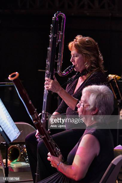 basson and contrabass clarinet in orchestra - bassoon stock pictures, royalty-free photos & images