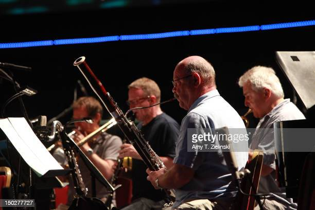 A bassoon player performs as Andre Ridder conducts the London Sinfonietta Academy Ensemble playing works by Xenakis Jonathan Harvey Louis Andriessen...
