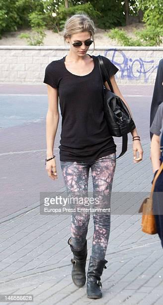 Bastain Schweinsteiger's girlfriend Sarah Brandner is seen on June 19 2012 in Sopot Poland