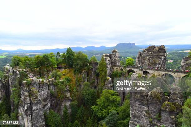 Bastei Bridge At Elbsandstein Mountains