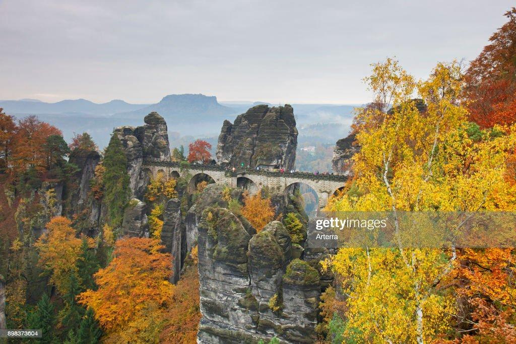 Bastei Bridge Above The Elbe River Pictures Getty Images - Elbe river