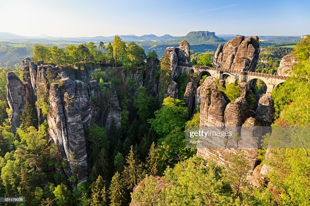 Bastei ブリッジ、ドイツサクソンスイスなど : ストックフォト