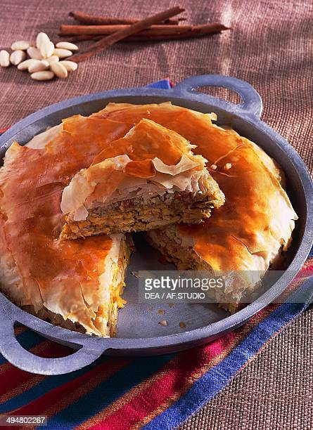Bastela chicken or pigeon pie Morocco