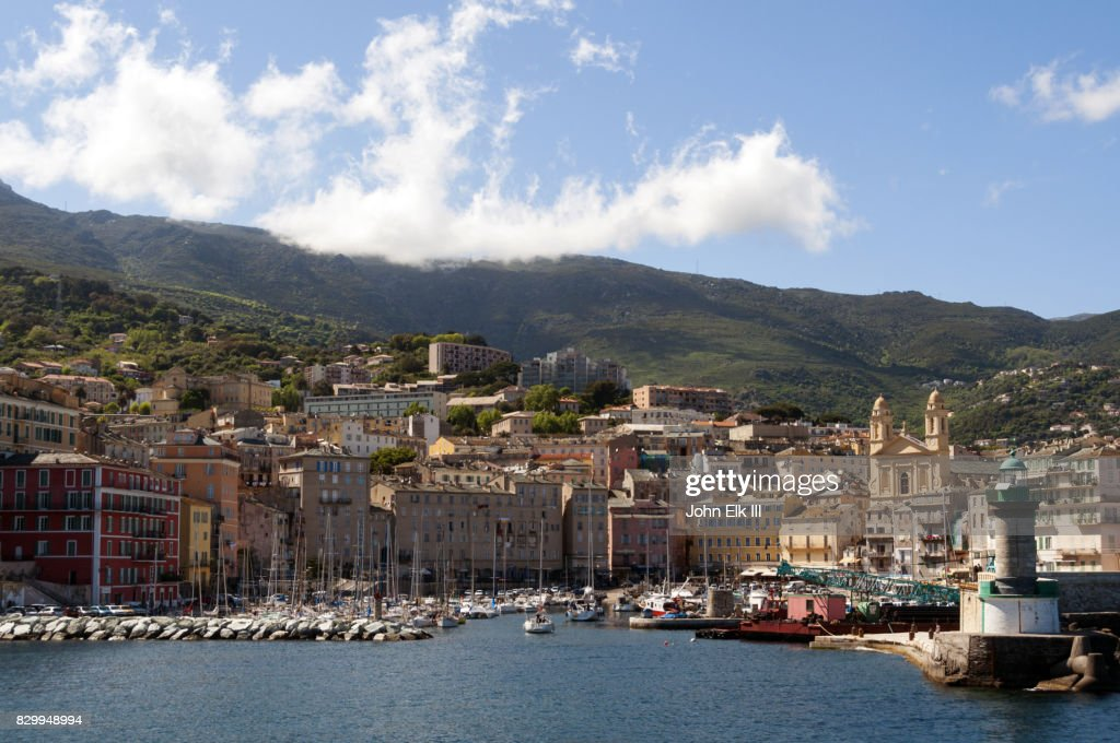 Bastia Vieux Port With Saint Jeanbaptiste Church Stock Photo Getty