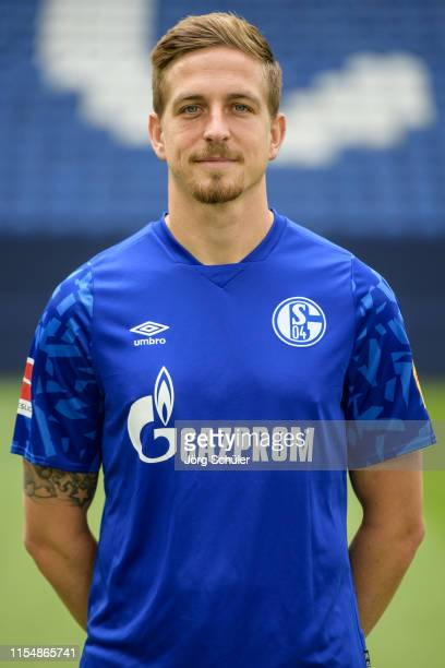 Bastian Oczipka of FC Schalke 04 poses during the team presentation at VeltinsArena on July 10 2019 in Gelsenkirchen Germany