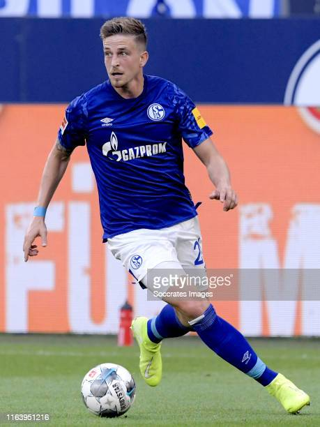 Bastian Oczipka of Schalke 04 during the German Bundesliga match between Schalke 04 v Bayern Munchen at the Veltins Arena on August 24 2019 in...