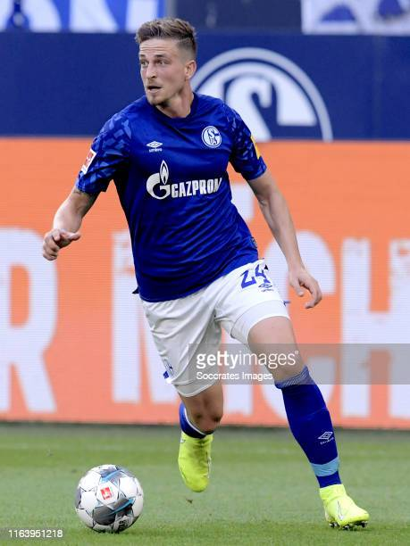 Bastian Oczipka of Schalke 04 during the German Bundesliga match between Schalke 04 v Bayern Munchen at the Veltins Arena on August 24 2019 in...