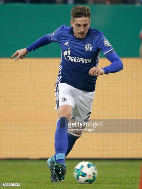Bastian Oczipka of Schalke 04 during the German DFB Pokal match between Schalke 04 v 1 FC Koln at the Veltins Arena on December 19 2017 in...