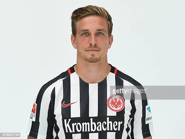Bastian Oczipka poses during the Eintracht Frankfurt Team Presentation on July 21 2016 in Frankfurt am Main Germany