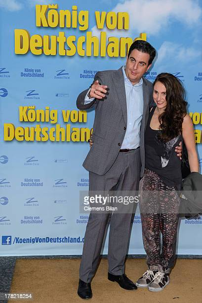 Bastian Pastewka and Heidrun Buchmaier attend the 'Koenig von Deutschland' Berlin premiere at Kino International on August 27 2013 in Berlin Germany
