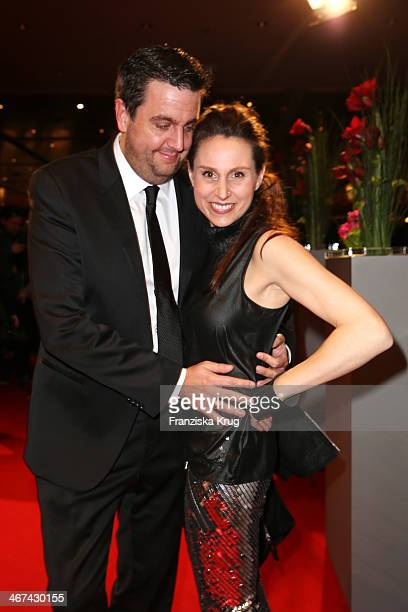 Bastian Pastewka and Heidrun Buchmaier attend the Opening Party 64th Berlinale International Film Festival at Berlinale Palast on February 06 2014 in...