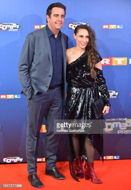 Bastian Pastewka and Heidrun Buchmaier attend the red carpet at the 22nd Annual German Comedy Awards at Studio in Koeln Muehlheim on October 7, 2018...
