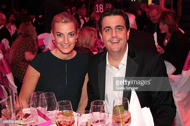 Bastian Pastewka and his manager Constanze Darschin during the Video Entertainment Award 2014 on November 19, 2014 at Hotel Westin Grand in Munich,...