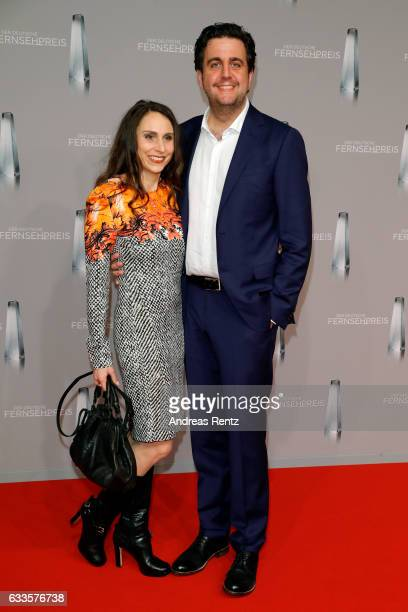 Bastian Pastewka and his wife Heidrun Buchmaier attend the German Television Award at Rheinterrasse on February 2 2017 in Duesseldorf Germany