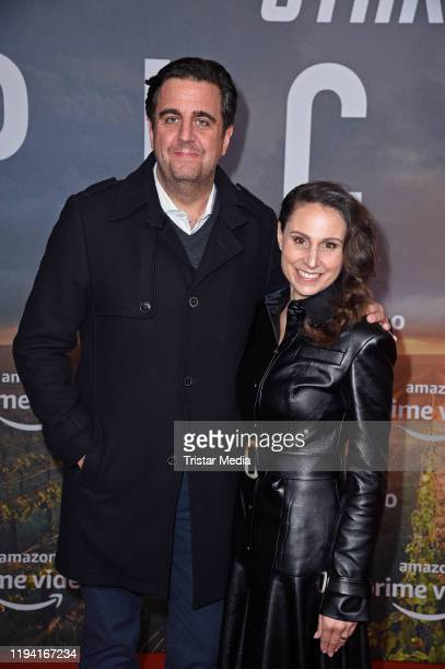Bastian Pastewka and his wife Heidrun Buchmaier attend the Star Trek Picard fan screening at Zoo Palast on January 17 2020 in Berlin Germany