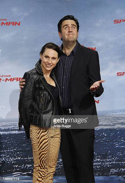 Bastian Pastewka and his wife Heidrun Buchmaier attend the 'The Amazing SpiderMan' Germany Premiere at Sony Centre on June 20 2012 in Berlin Germany
