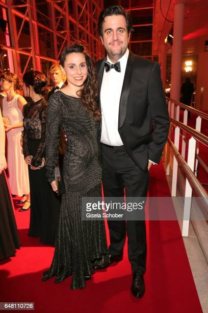 Bastian Pastewka and his wife Heidrun Buchmaier during the Goldene Kamera reception at Messe Hamburg on March 4 2017 in Hamburg Germany