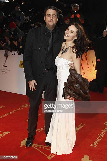 Bastian Pastewka and partner Heidrun Buchmaier attend the 47th Golden Camera Awards at the Axel Springer Haus on February 4 2012 in Berlin Germany