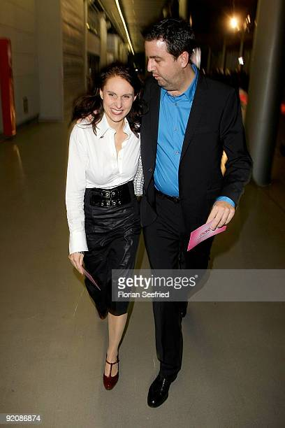 Bastian Pastewka and wife Heidrun Buchmaier attend the German Comedy Award 2009 at the Coloneum on October 20 2009 in Cologne Germany