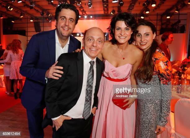 Bastian Pastewka Bernhard Hoecker Marlene Lufen and Heidrun Buchmaier attend the German Television Award at Rheinterrasse on February 2 2017 in...