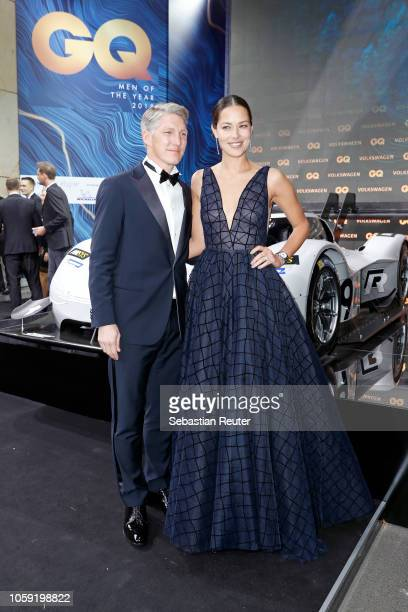 Bastian Schweinsteiger and Ana Ivanovic arrive for the 20th GQ Men of the Year Award at Komische Oper on November 8 2018 in Berlin Germany