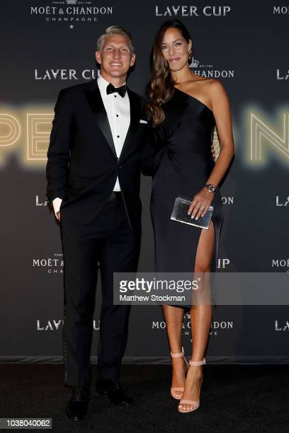 Bastian Schweinsteiger and Ana Ivanovic of Serbia arrive on the Black Carpet during the Laver Cup Gala at the Navy Pier Ballroom on September 20 2018...